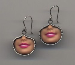 Barbie earrings