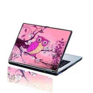 baby owl pink laptop skin
