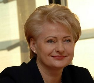 Grybauskaite, Lithuania's first female president.
